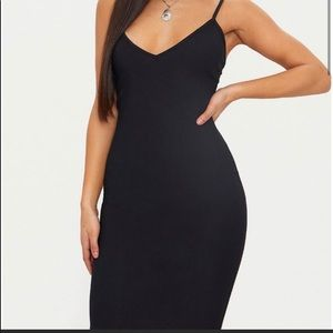 Pretty little thing black bodycon dress